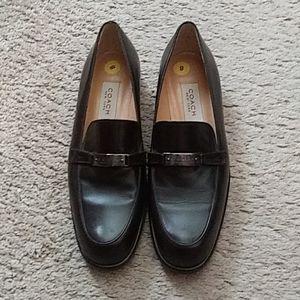 Dark brown Coach loafers